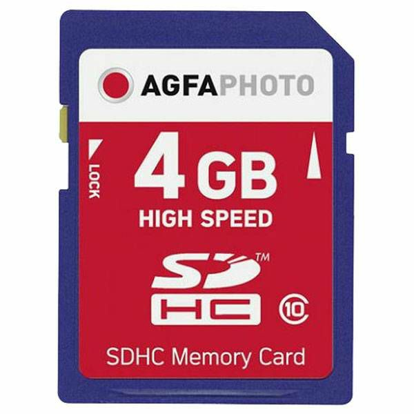 AgfaPhoto SDHC 4GB High Speed Class 10 UHS I