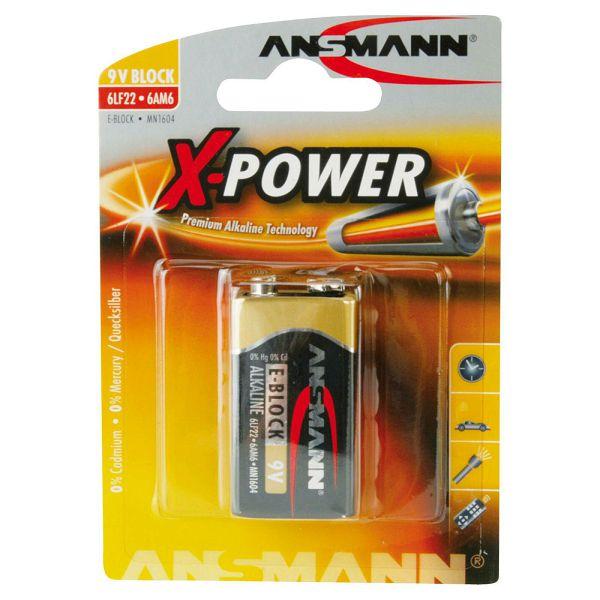 Baterija Ansmann Alkaline 9V block X-Power