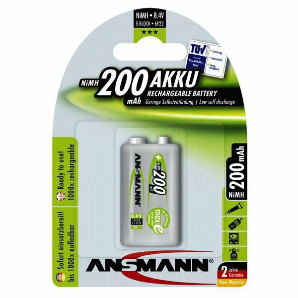 Baterija Ansmann maxE NiMH 9V 200 mAh