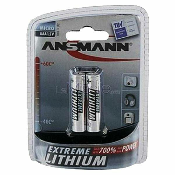 Baterije Lithium Micro AAA Extreme 1x2 Ansmann