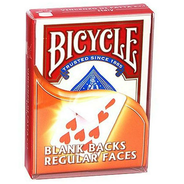 Bicycle Blank back & Regular face