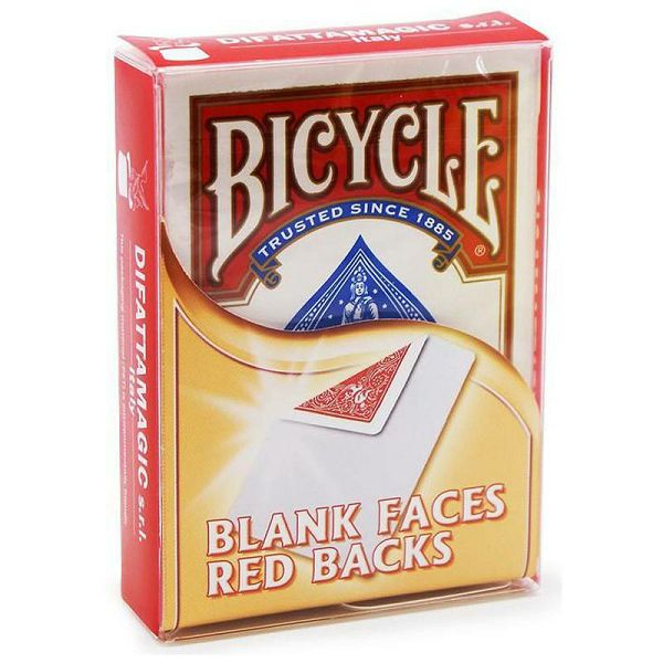 Bicycle Blank Face & Red Back