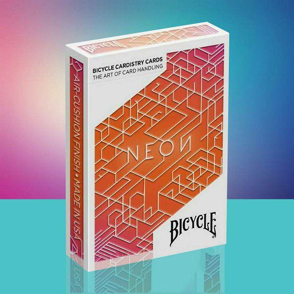 Bicycle Neon Orange Bump Cardistry