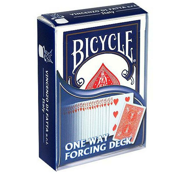 Bicycle - One way Blue forcing deck