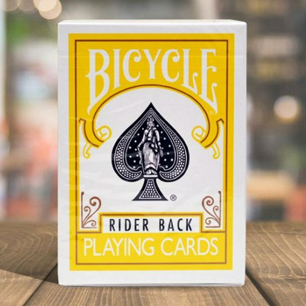 Bicycle Rider Back Yellow