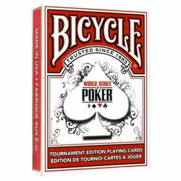 Bicycle WSOP Tournament Red