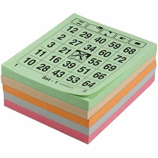 Bingo kartice 1-75 5 boja