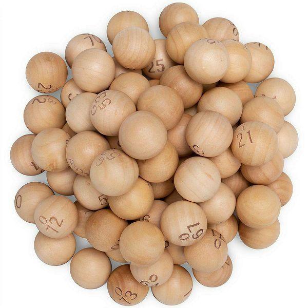 Bingo loptice drvene 1-75 24 mm