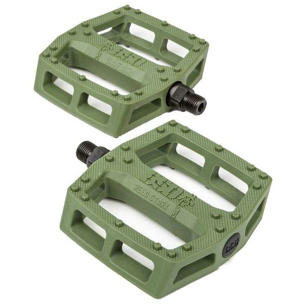 BSD Safari BMX Pedals Surplus Green