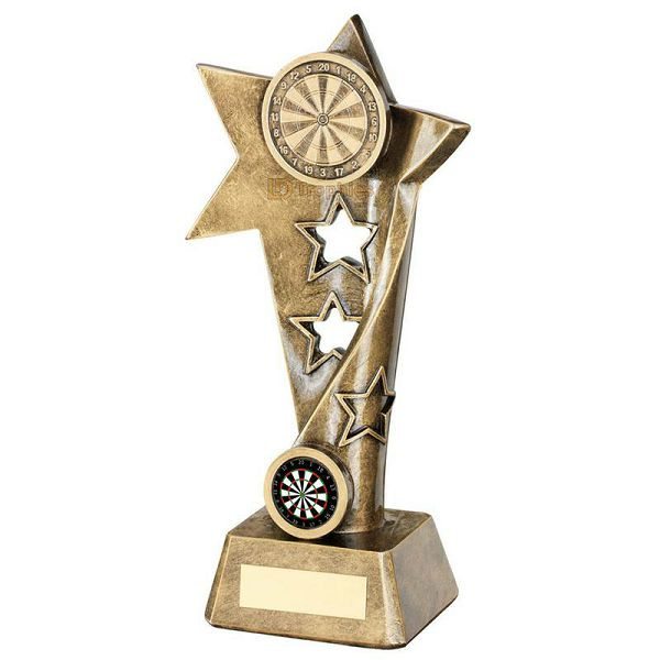 Darts Trophy Twisted Star Small