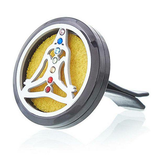Difuzor za auto Pewter Yoga Chakra 30 mm