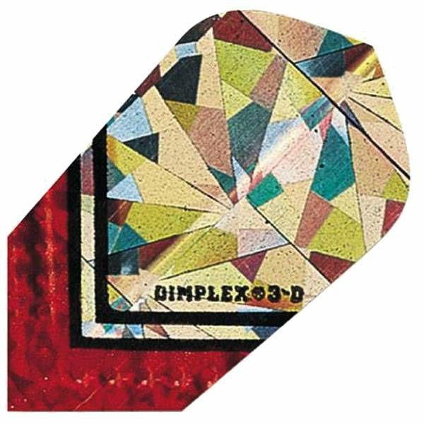 Dimplex 3D Slim Silver Red