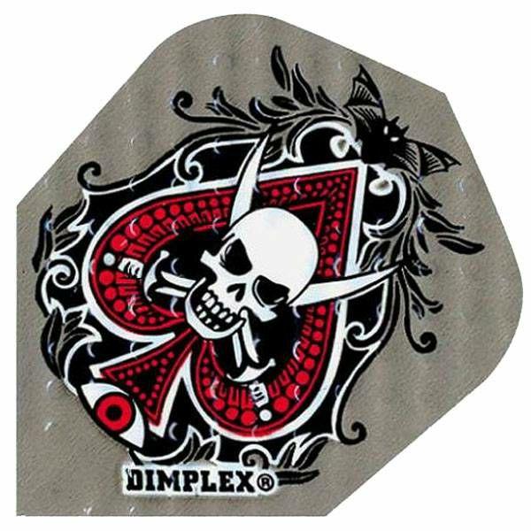 Dimplex Embossed Spades Skull