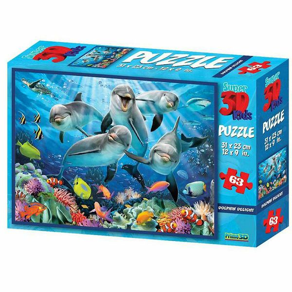 Dolphin Delight 3D Puzzle