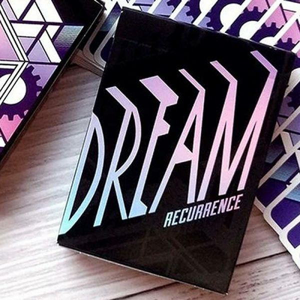 Dreamers Purple Playing Cards