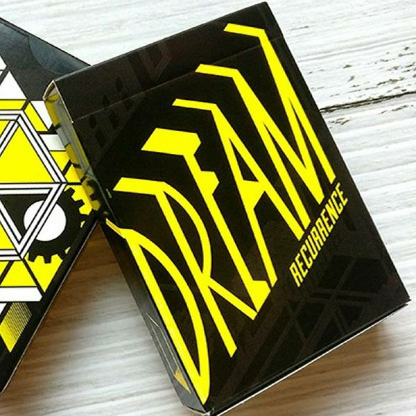 Dreamers Yellow Playing Cards