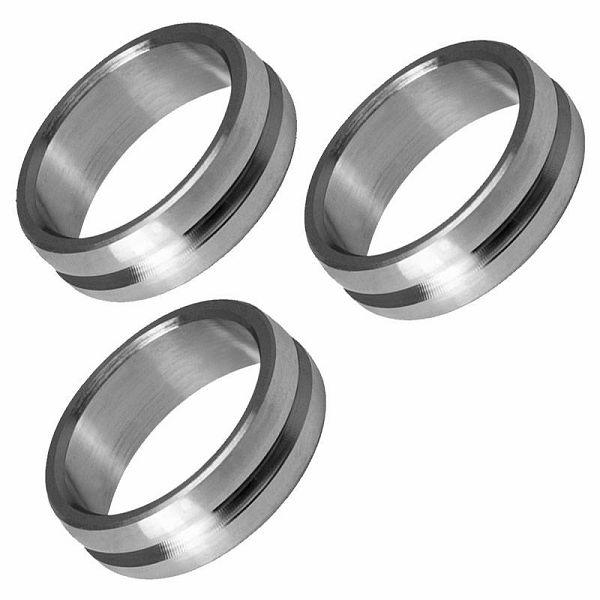 F-Lock Rings Titanium Silver