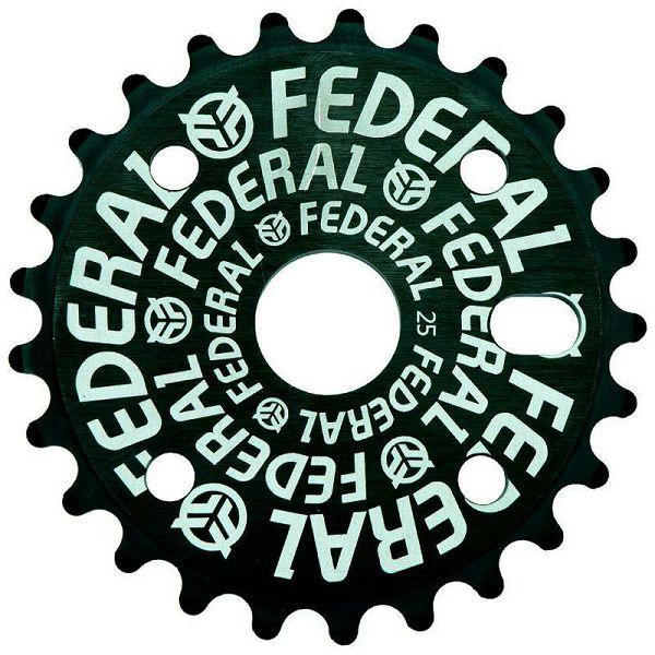 Federal Logo Solid BMX Sprocket 25T Black