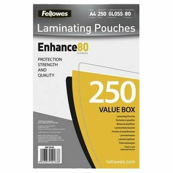 Fellowes A4 Glossy 80 250 komada