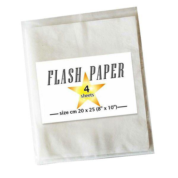 Flash paper 4x 20x25 White