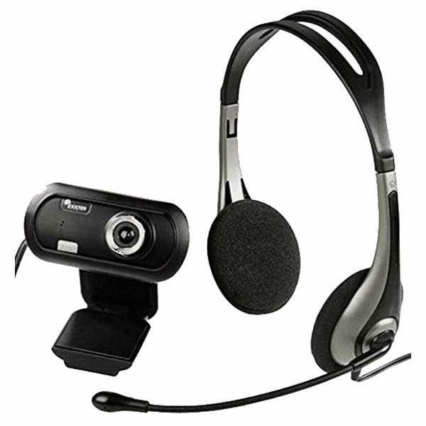 Headset + USB HD Webcam EX2 720p