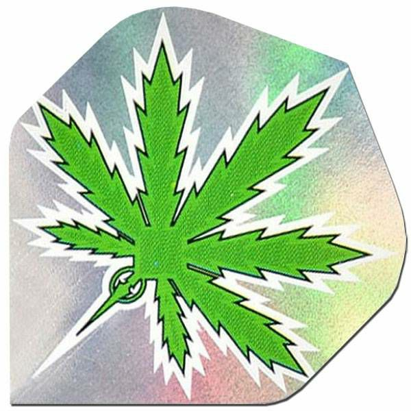 Holographic 2D Standard Cannabis Green