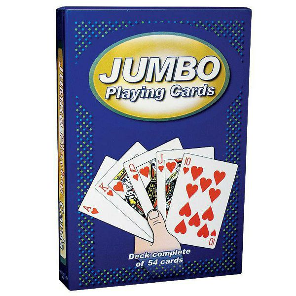 Jumbo Playing Cards Blue