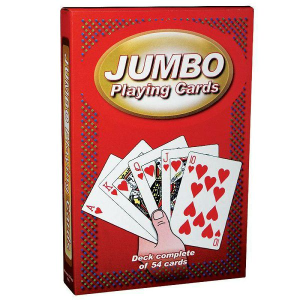 Jumbo Playing Cards Red