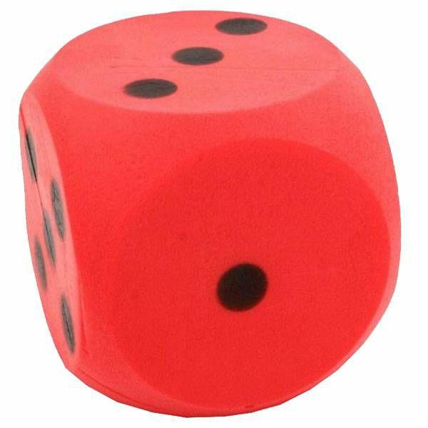 Kockica Foam crvena 15 cm 1 komad