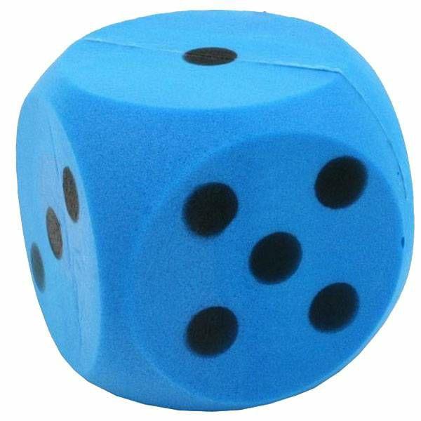 Kockica Foam plava 15 cm 1 komad