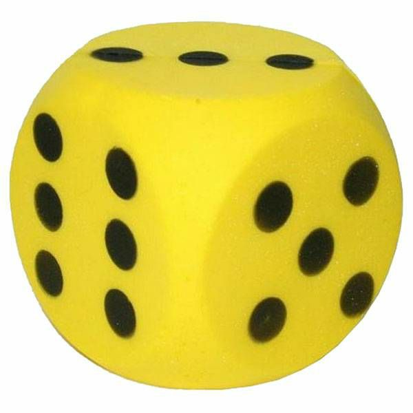 Kockica Foam žuta 15 cm 1 komad