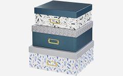 Kutije Designline Feathers 3 komada