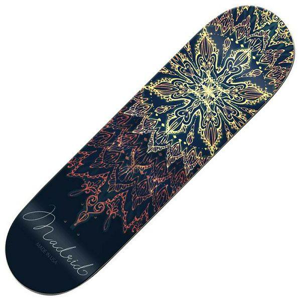 Madrid Skateboard Deck Mandala 7.75