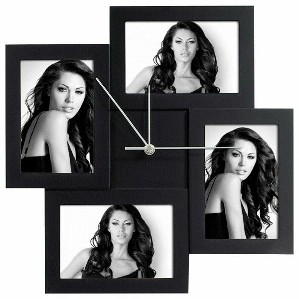 Messina black 4x10x15 Wood Clock FC004