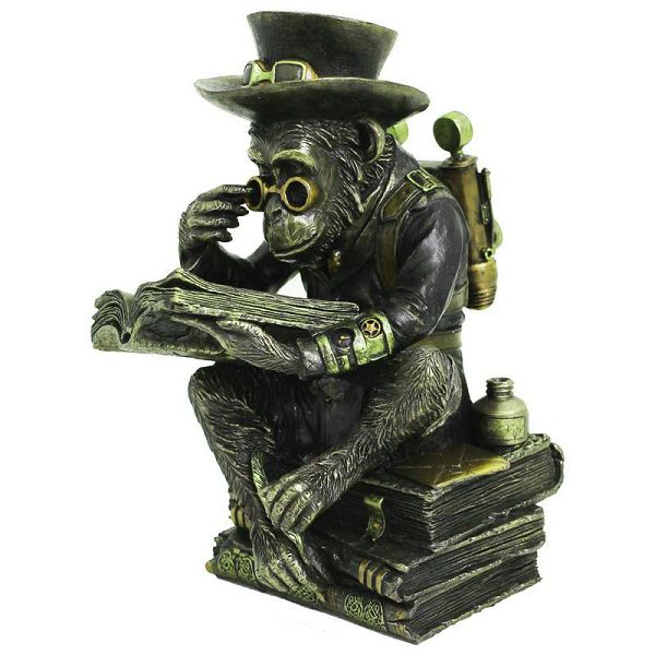 Steampunk Monkey with Books