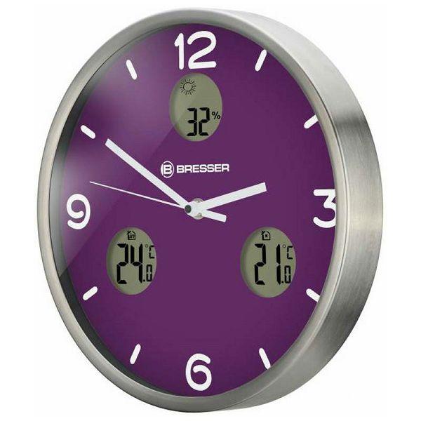 MyTime io NX Wall Clock Purple 30 cm
