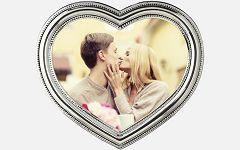 Okvir za slike Cherie Heart silver 12x12