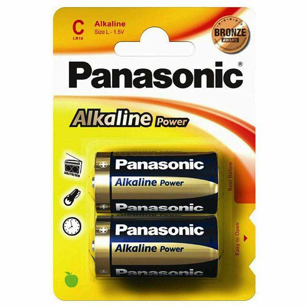 Panasonic x2 Alkaline Power Baby C LR 14