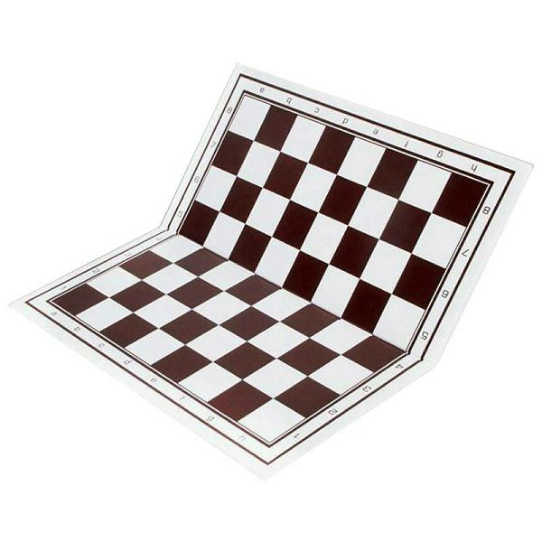 Plastic Chess & Mill Board white/brown