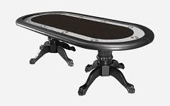 Poker stol California crni