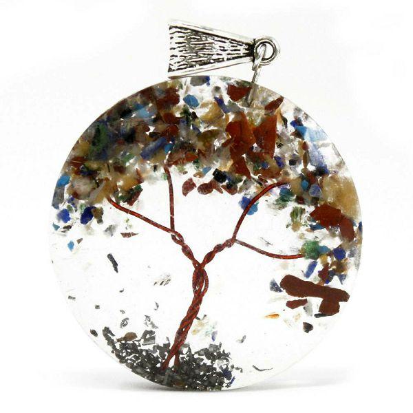 Power Pendant - Round Amethyst Tree