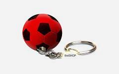 Privjesak lopta crno/crvena