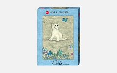 Puzzle White Kitty 500