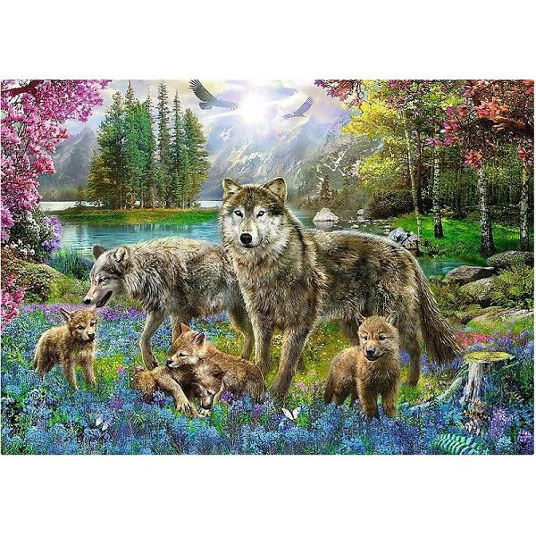 Puzzle Wolf Family
