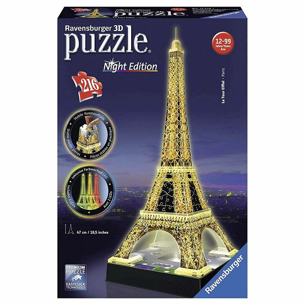 Ravensburger 3D Eiffel Tower Night Edition