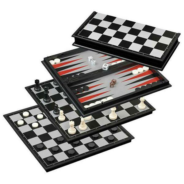 Šah & Backgammon & Dama Magnetic