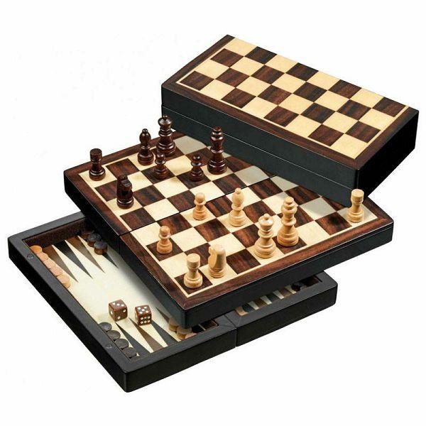 Šah & Backgammon & Dama Travel No. 2507