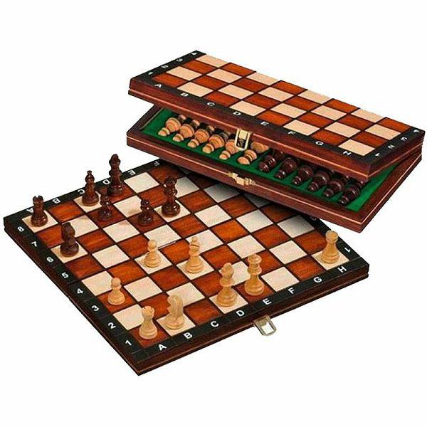 Šah drveni magnetski 26.5 x 26.5 cm