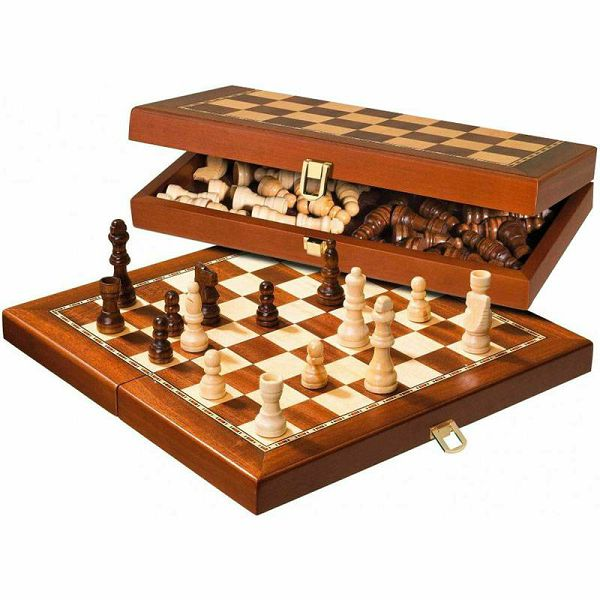 Šah drveni magnetski 29 x 29 cm