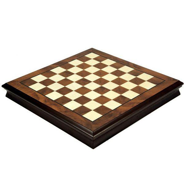 Chess board box Briar Wood 52 x 52 cm